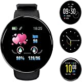 Smartwatch Fitness Tracker Watch Hombres Mujeres, 1.3 pulgadas Bluetooth Smart Watch Monitor de ritmo cardíaco Pantalla a color de muñeca Reloj deportivo Calorie Activity Tracker, para Android iOS