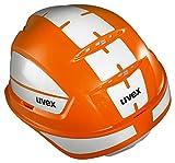 Uvex Pheos B-WR - Casco de protección reflectante para obras, color naranja