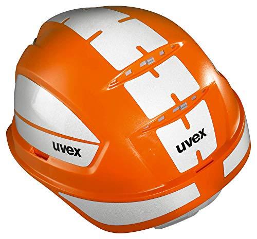 Uvex Pheos B-WR Schutzhelm - Reflektierender Arbeitshelm für die Baustelle - Orange