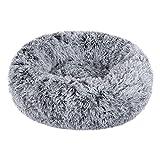 BVAGSS Cama de Gato Extra Suave Cómodo Lindo Lavable de la Cama Sleeping Sofa para Mascotas Deluxe para Gatos y Perros XH062 (Diameter:60cm, Gradient Gray)