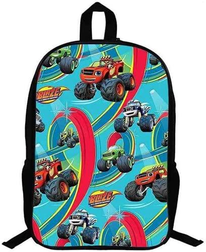 Blaze - Borsa per la scuola per bambini, motivo: Cartoon Racing, comoda e bella (9,13 pollici)