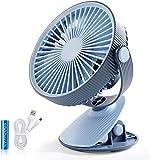 YPSMLYY Nuevo Ventilador De Escritorio USB Recargable con Ventilador De Clip Creativo Ventilador De Escritorio Portátil para Estudiantes,Blue