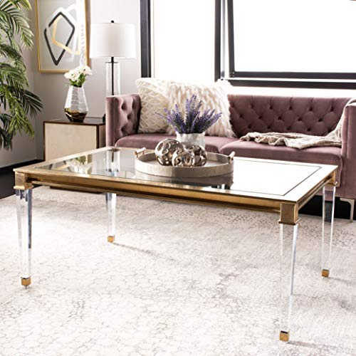 Safavieh Couture Collection Charleston Brass Acrylic End Table