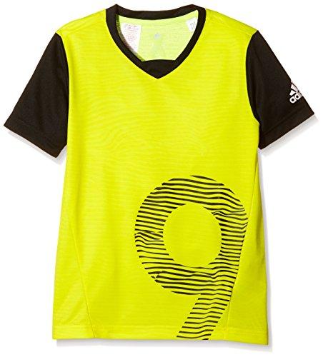 adidas Locker Room Performer Chaos T-Shirt Garçon 152 cm Jaune/Noir