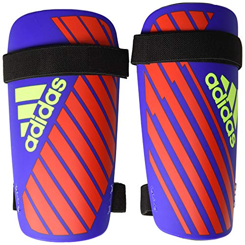 adidas Adult X Lite Shin Guard, Bold Blue/Active Red/Solar Yellow, X-Large