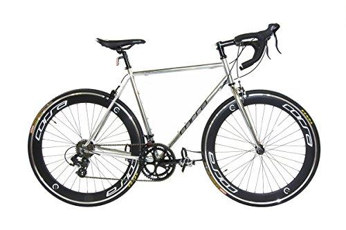 Alton Corsa R-14D 700C Deep-Dish Rim Road Bike, Silver, 22.8'/Large