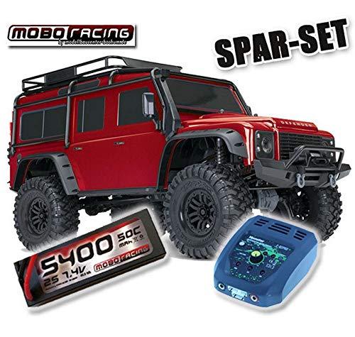 Traxxas 82056-4 TRX-4 Land Rover Crawler 2,4GHz rot + 5400mAh 2S Lipo + Lader TRX4