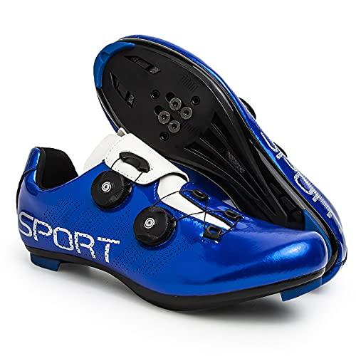 WWSUNNY Rennradschuhe Herren-Rennradschuh Anti-Rutsch-Tourenschuhe Mit Reflektierenden Streifen ,Schuhe Aus Kohlefaser