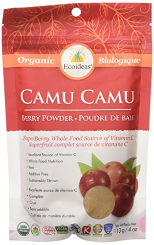 Ecoideas Organic Raw Camu Camu Berry Powder, 113g