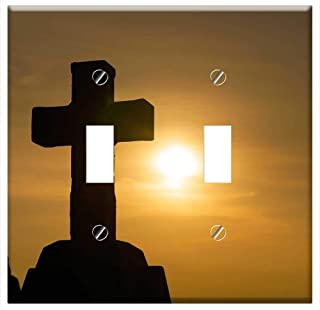 Switch Plate Double Toggle - God Religion Cross Christianity Religious