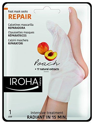 Iroha fothålsmask – Peach Socks – reparation, 2-pack (2 x 2 stycken)