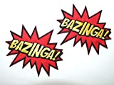 'Bazinga' The Big Bang Theory - bordado hierro-en coser-en remiendo / - 2 placas mediante ONEKOOL