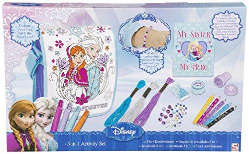 Set 3 en 1 la Reine des Neiges Disney - sac à bandoulière créatif avec accessoires de bricolage