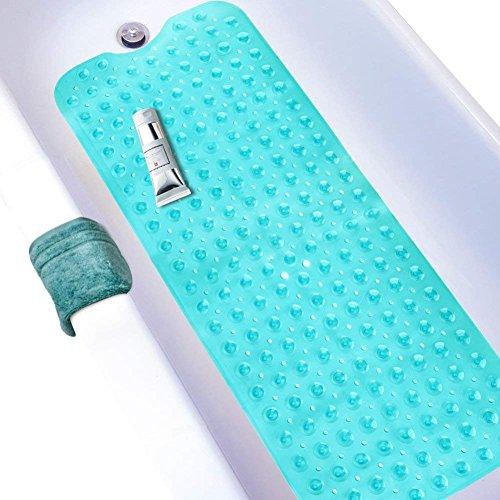 Wimaha XL Badewanneneinlage, Badewannenmatte rutschfest für Badezimmer, Maschinenwaschbar, Ideal für Kinder Und Erwachsene, 100 x 40cm Blau