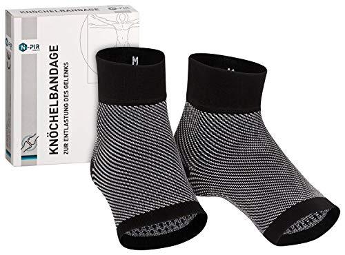 N-PIR PREMIUM KNÖCHELBANDAGE I Verbessertes Konzept 2020 I Bandage für Knöchel Fußgelenk Achillessehne I medizinische Fussbandagen 2.0 für Damen Herren und Kinder | XL