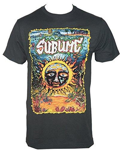 Sublime Under The Sea Sun T-Shirt Charcoal 2XL