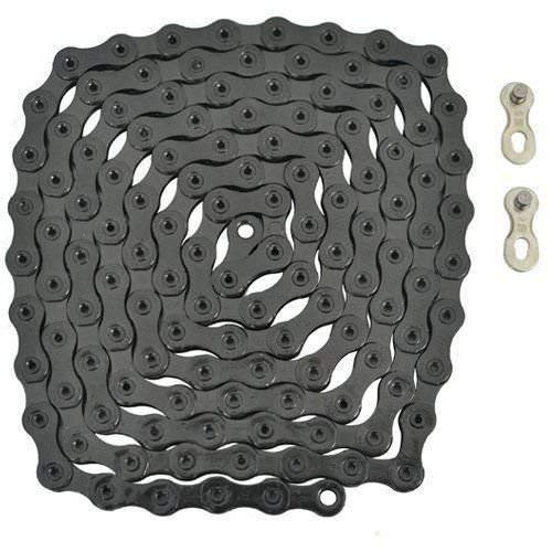 YBN 12 Speed Chain 126 Link With Power Lock, Black #ST1450