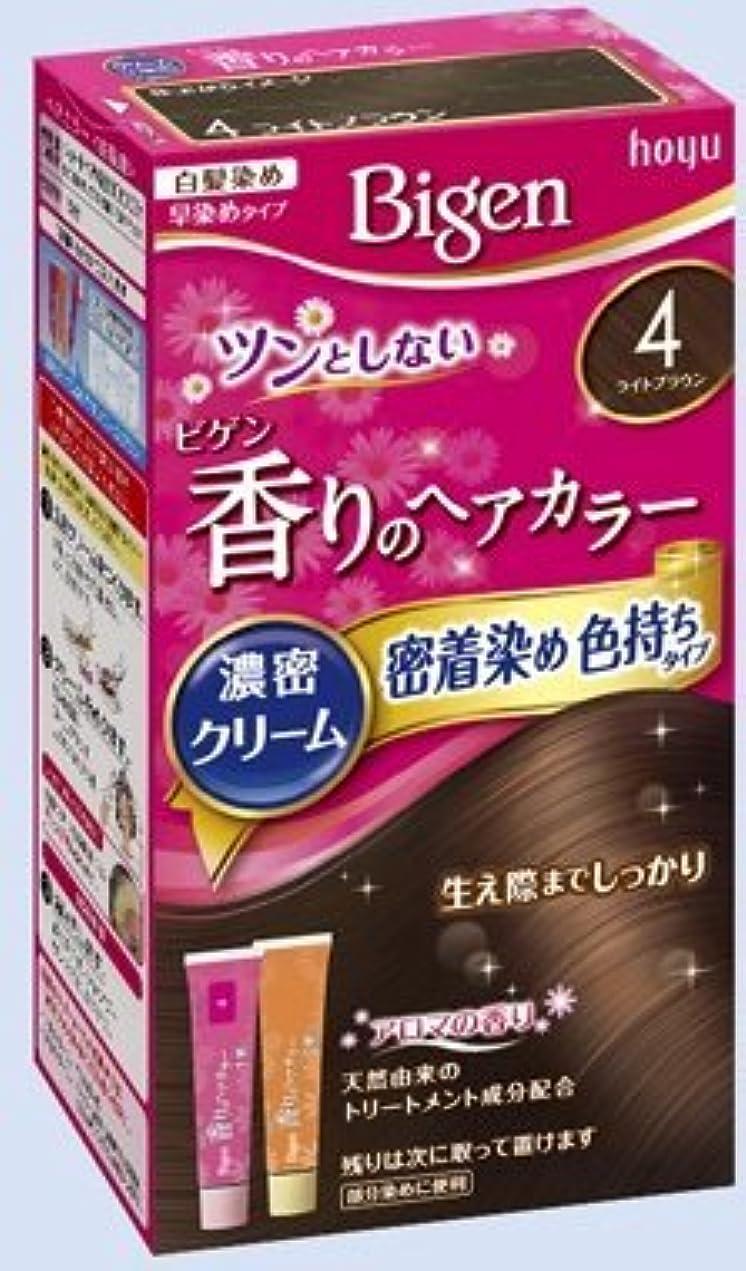 気楽な割る幸福ビゲン 香りのヘアカラー クリーム 4 ライトブラウン × 5個セット