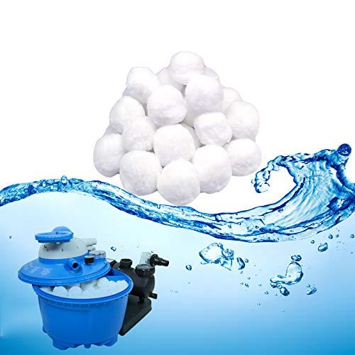 TUXUNQING Bola de Filtro de Piscina, Bolas Filtrantes, 500g Filter Balls Alternative para 11KG Filtro de Arena,Equipo Limpieza Piscinas Bola,Bola de Filtro de Fibra para Sistema de Filtro de Piscina.
