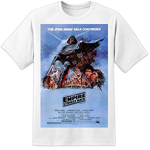 Star Wars The Empire Strikes Back - Filmposter T-Shirt (S-3XL) Vader Stormtrooper - Weiß, XX-Large