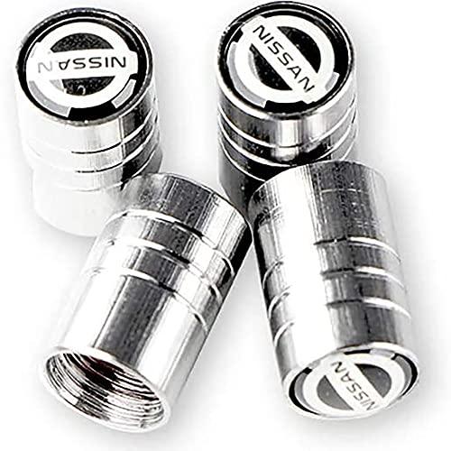 4 Piezas Coche Metal Tapas para válvulas De NeumáTico, para Nissans Nismo X-trail Almera Qashqai Tiida Teana
