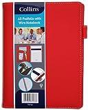 Collins - Carpeta tamaño A5 con cuaderno, color rojo...