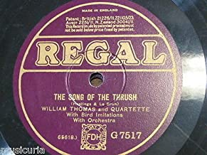 78rpm WILLIAM THOMAS QTT song of the thrush / FRED DOUGLAS penny whistler
