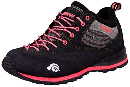 Guggen Mountain PT022 Donne Trekking-& Scarpe da Escursione Pelle di Camoscio Colore Nero-Rosa EU 38