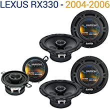 Compatible with Lexus RX330 2004-2006 Factory Speaker Replacement Harmony (2) R65 R35 Package