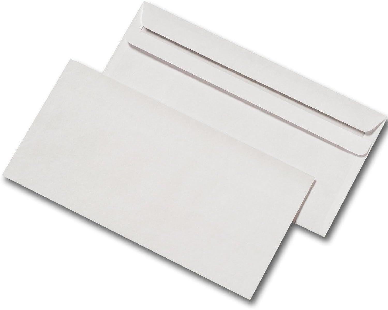 5000 Briefumschläge DIN Lang 110 x 220 mm ohne Fenster selbstklebend weiss B00EZDRYNO   Kaufen Sie online