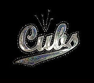 Cubs - Silver - Sequin and Rhinestone Iron on Transfer