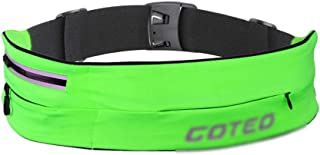 MKKYB Fanny Pack for Men Waist Bag, high Elastic Ultra-Thin Tide Brand Belt Bag Personal Running Mobile Phone Bag Key Card Package Sports Invisible Outdoor Small Pockets Black bumbag (Color : Green)