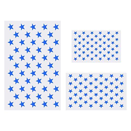 Schablone mit amerikanischer Flagge 50 Sterne zum Malen auf Holz, Stoff, Papier, Airbrush, Wände Kunst (1 groß, 1 mittel, 1 klein)