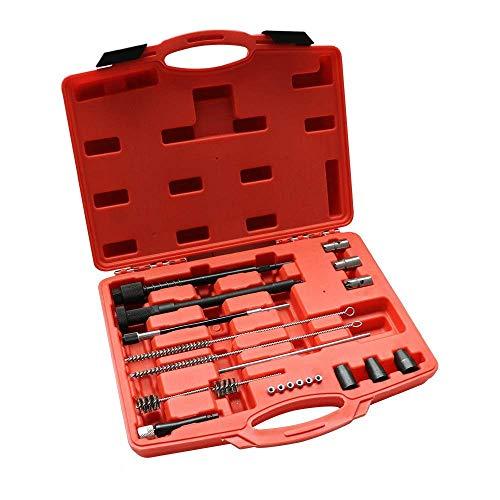 DiLiBee Kit de nettoyage de siège d'injecteur diesel pour injecteur, outil de nettoyage de siège d'injecteur diesel.