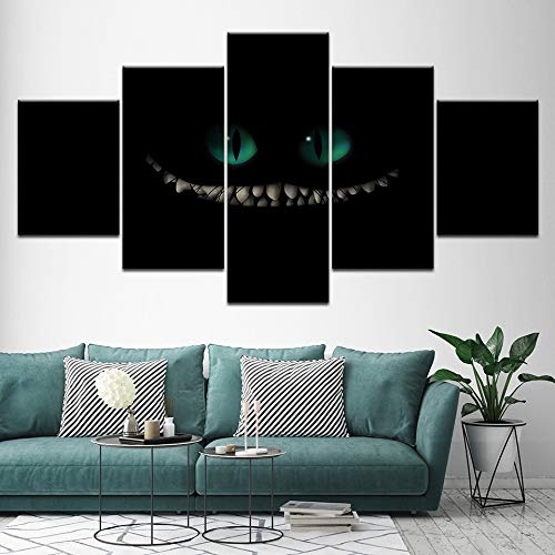 GUDOJK canvas schilderij Green Eye Little Monster 5 stuks muurkunst schilderij modulaire behang poster voor woonkamer wooncultuur 30x40 30x60 30x80
