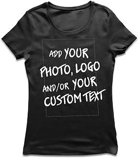 Personalizado personalizado cualquier texto Vinilo Impreso Damas Blanco Novedad Regalo calcetines 3-8