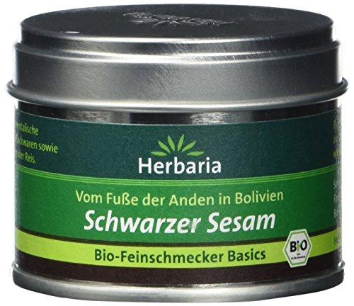 Herbaria Schwarzer Sesam, 1er Pack (1 x 35 g Dose) - Bio