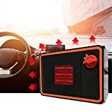 Portable Car Heater,Car Heater Portable Fan Heater Portable Heating Defroster 24V-350W Car Heater Portable Heating Defroster