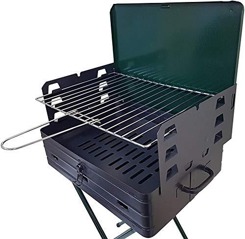 BAR007 Barbacoa resellable y convertible en maleta 42x31xH80cm parrilla de acero