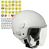 CGM Varadero Smile, Casco Bambino Junior Demi Jet Moto Scooter, Bianco, YS (49-50cm)