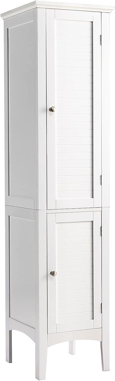 Tangkula Tall Bathroom Soldering Storage Finally popular brand 5-Tier Wooden Freestandi Cabinet