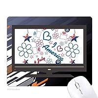 アメリカのキャンディフラワースターハート愛の言葉 ノンスリップラバーマウスパッドはコンピュータゲームのオフィス
