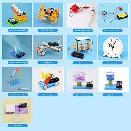 DIY STEM wetenschappelijke experimenten Kits, Elektromotor Montage Kit for Kids DIY Balance Car Robot Reptile Robot Scientific Toys,A