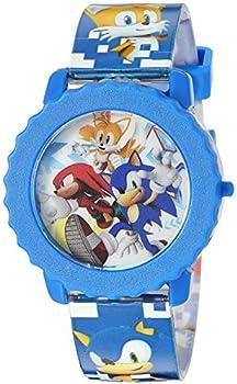 Sonic the Hedgehog Kid s Quartz Watch with Plastic Strap Blue 17.75  Model  SNC4028