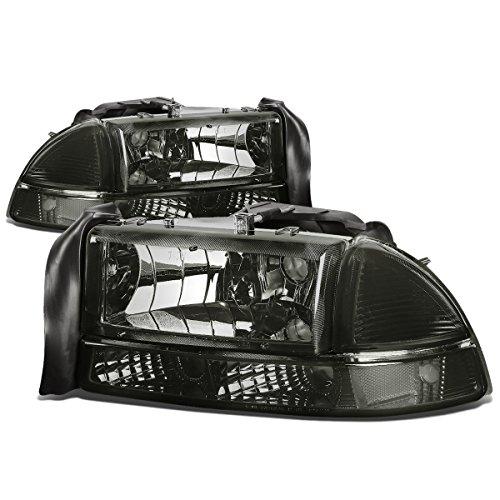 4Pcs Smoked Housing Clear Corner Headlight Bumper Lamps Replacement for Dodge Dakota Durango 97-04