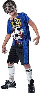 Boys Zombie Goals Soccer Sports Halloween Costume