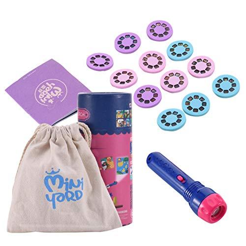 danio Baby Mini Story maskin ficklampa projektor leksak, ljus HD tecknad liten ficklampa lärmaskin inomhus barn tidig utbildning projektor leksak raffinerad