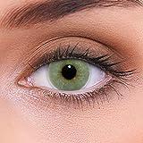 lenzotica lenti colorate 2 pezzi lenti a contatto naturale | lenti grigie colore solid grey + contenitore | dia 14.00 senza correzione 0.00 diottrie | lenti a contatto