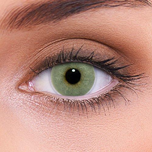LENZOTICA Sehr stark natürlich deckende graue Kontaktlinsen farbig SOLID GREY + Behälter von LENZOTICA I 1 Paar (2 Stück) I DIA 14.00 I ohne Stärke I 0.00 Dioptrien