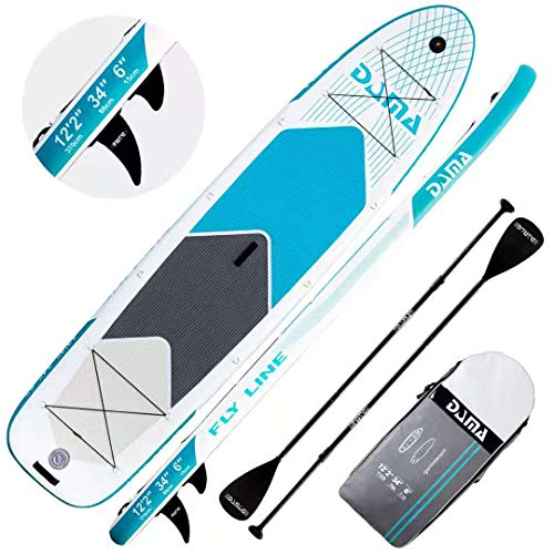 DAMA Inflatable Paddle Boards Stand Up(10'6'x33'x6'), Reinforced Drop Stitch, Wide Board, Camera...